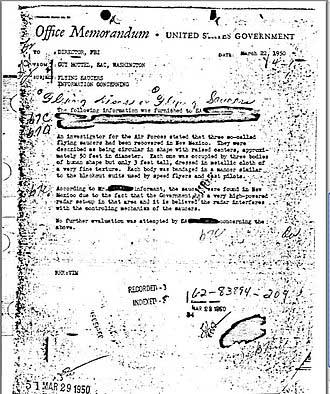 Отчет агента ФБР по инциденту в Розуэлле
