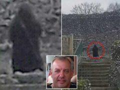 Призрак Черного монаха из средневекового замка.