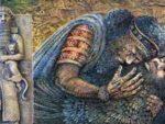 Гильгамеш,-очевидец прибытия богов оплакивает друга