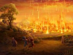 Библейские города Содом и Гоморра были уничтожены метеоритом.