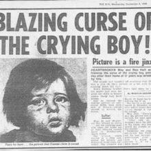 Огненное проклятие плачущего мальчика художника Джованни Браголини.