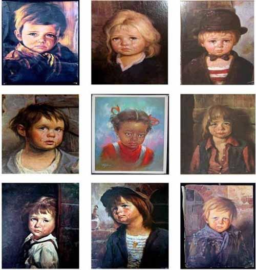 серия плачущие дети Браголини
