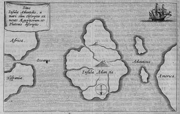 Атлантида на древних картах, Юг сверху