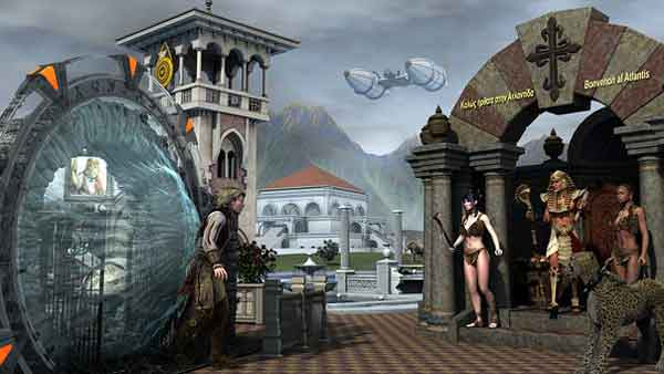 Представление Атлантиды и технологий прошлого в зарисовках художников