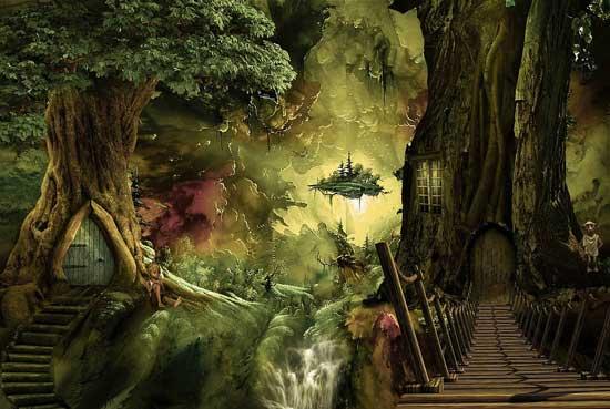 волшебные миры где живут эльфы и Баба Яга