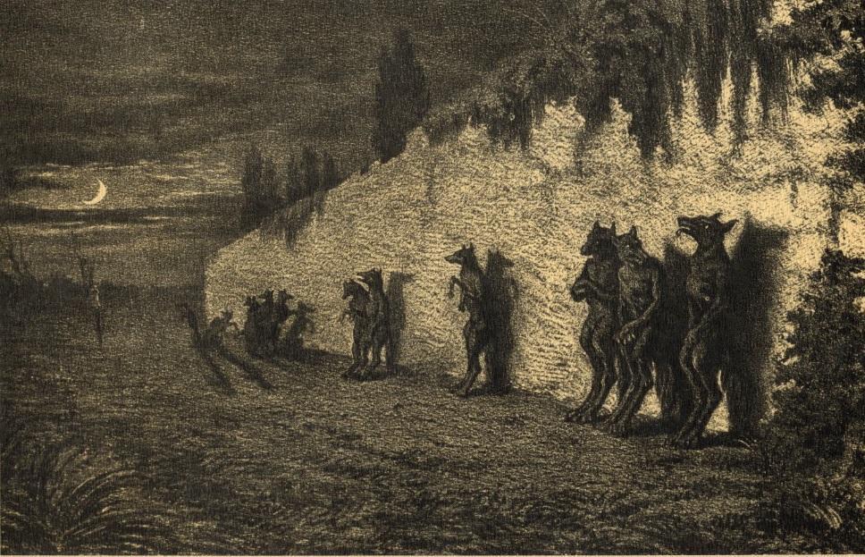 оборотни собираются вместе и нападают на селения